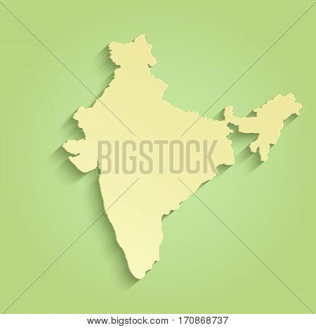 India Map Green Yellow Raster Image Photo Bigstock - Blank world map green