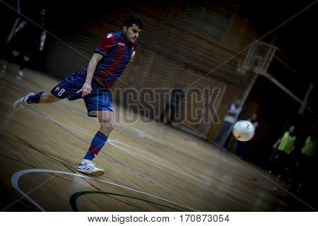 VALENCIA, SPAIN - FEBRUARY 7: Borja Milan during Spanish King Cup match between Levante UD FS and Elpozo Murcia at Cabanyal Stadium on February 8, 2017 in Valencia, Spain