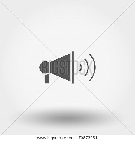 Megaphone. Silhouette. Icon for web and mobile application. Vector illustration on a white background. Flat design style.
