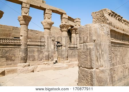 Ruins Of Temple In Philae