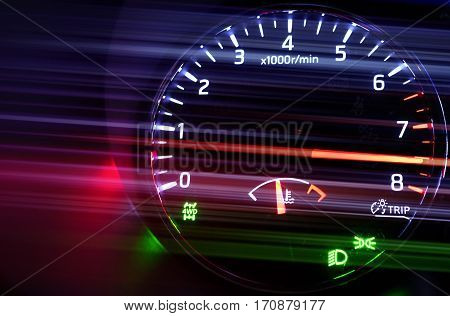 Tachometer With Hi Speed In Dark