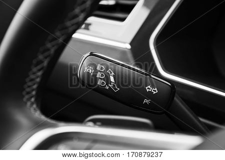 Headlights Mode Selector, Modern Car