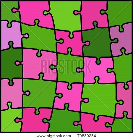abstract colored puzzle background - green and magenta
