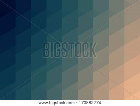 pattern of hexagons, blue and beige with shadow reflex
