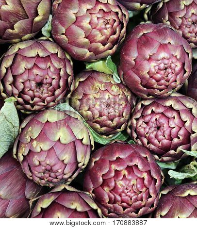 Ripe Artichokes For Sale In The Southern Italian Market