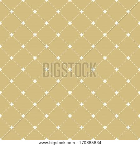Geometric repeating pattern. Seamless abstract modern texture for wallpapers and backgrounds. Golden and white pattern