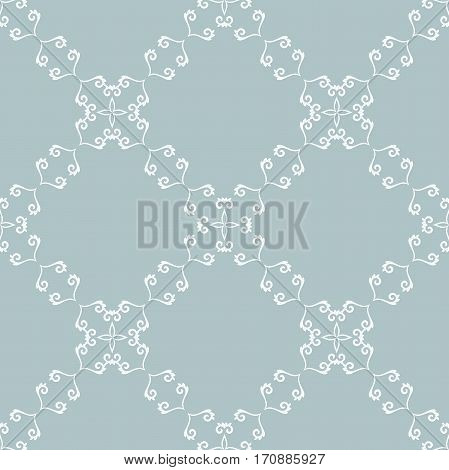 Elegant classic pattern. Seamless abstract background with repeating elements. Light blue and white pattern