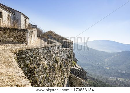 the wall in Marvão town, Portalegre District, Portugal