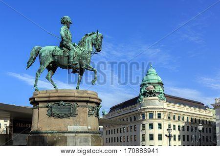 Equestrian statue of Archduke Albrecht, Duke of Teschen.Vienna, Austria.