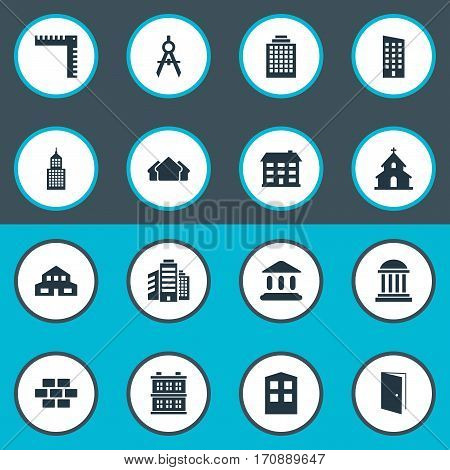 Set Of 16 Simple Structure Icons. Can Be Found Such Elements As Structure, Popish, Block And Other.