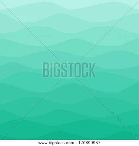 Seamless blue turquoise nautical pattern. Gradual color waves background. Graphic design element for web sites, stationary printables, fabric, scrapbooking, wedding or baby shower invitations, room wallpaper, birthday card etc.