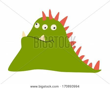 Monster vector. Kids cartoon toy colorful cute character. Vivid fabulous incredible creatures. appy cheerful monsters with lot of eyes. Isolated on white background