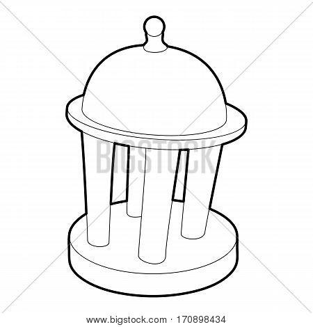 Rotunda icon. Outline illustration of rotunda vector icon for web