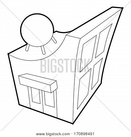 Observatory icon. Outline illustration of observatory vector icon for web