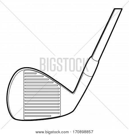Play stick icon. Outline illustration of play stick vector icon for web