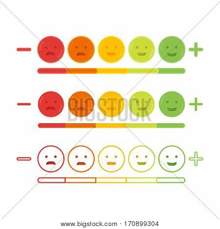 Feedback Emoticon Emoji Smile Icon Vector Illustration
