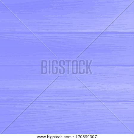 Vector background bright blue wooden wall. Realistic planks. Wood background.