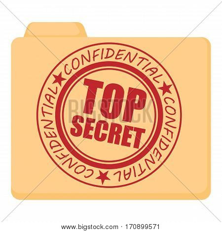 Top secret icon. Cartoon illustration of top secret vector icon for web