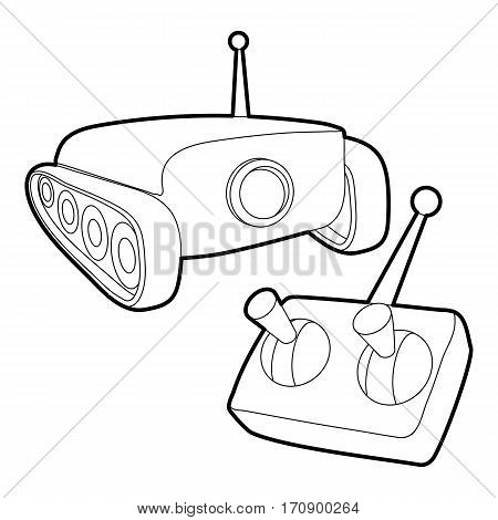 Moving camera icon. Outline illustration of moving camera vector icon for web