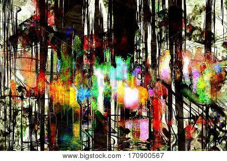 city abstraction painting, abstract city scape view, dreamy urban, amazing modern art
