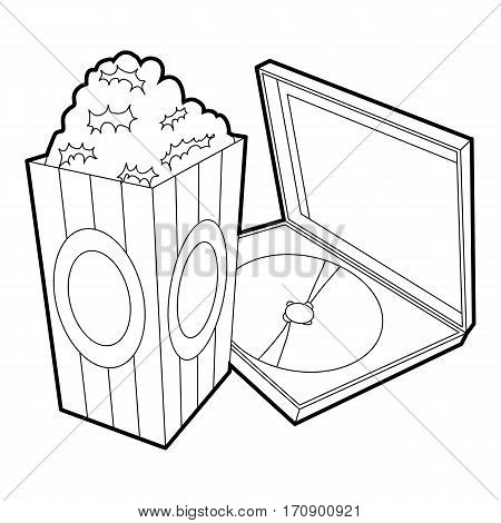 Big popcorn icon. Outline illustration of big popcorn vector icon for web