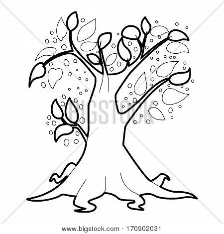 Big tree icon. Outline illustration of big tree vector icon for web
