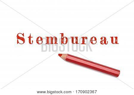 Stembureau Text Sketch Red Pencil