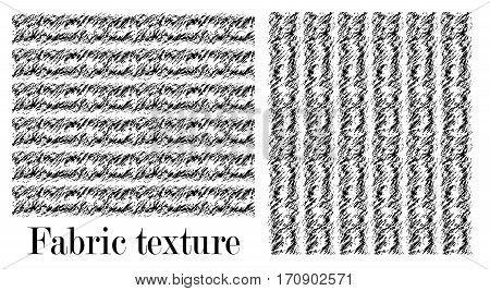 The texture is twisted to one side in soft wool. Seamless black and white pattern of the carpet.