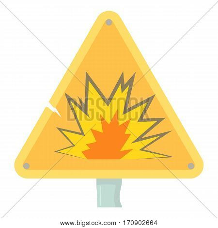 Danger sign icon. Cartoon illustration of danger sign vector icon for web