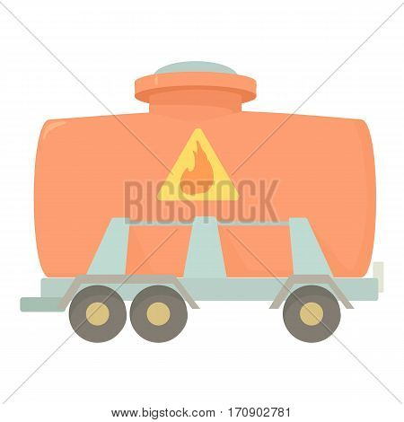 Railroad tank icon. Cartoon illustration of railroad tank vector icon for web