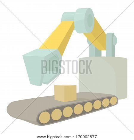 Big excavator icon. Cartoon illustration of big excavator vector icon for web
