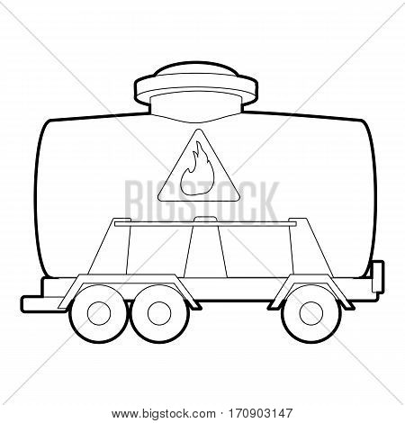 Railroad tank icon. Outline illustration of railroad tank vector icon for web