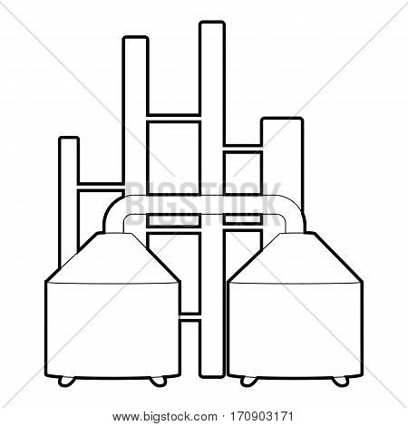 Tanks icon. Outline illustration of tanks vector icon for web