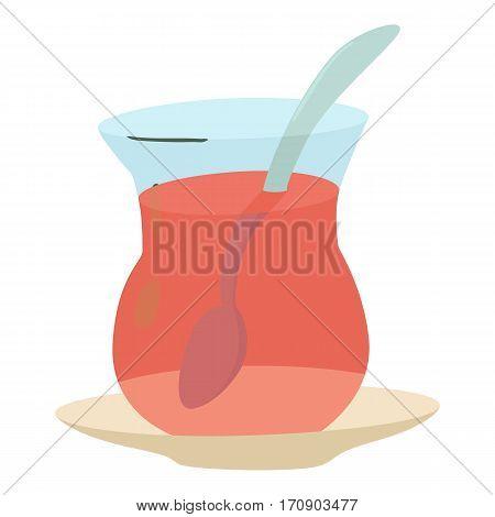 Cold tea icon. Cartoon illustration of cold tea vector icon for web