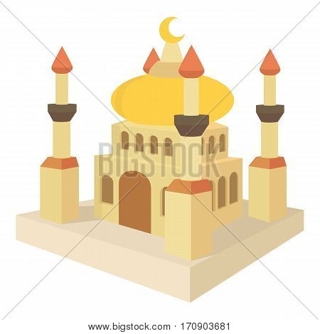 Arabic town icon. Cartoon illustration of arabic town vector icon for web