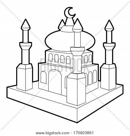 Arabic town icon. Outline illustration of arabic town vector icon for web