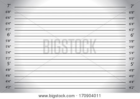 Vector of white grey wall with Police Lineup Background