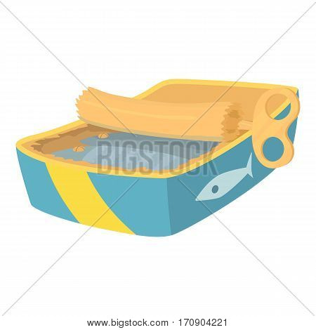 Canned fish icon. Cartoon illustration of canned fish vector icon for web