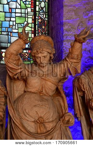 Reims France - july 26 2016 : entombent in the Saint Remi basilic