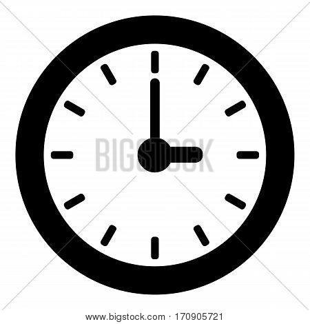 Clock icon. Simple illustration of clock vector icon for web
