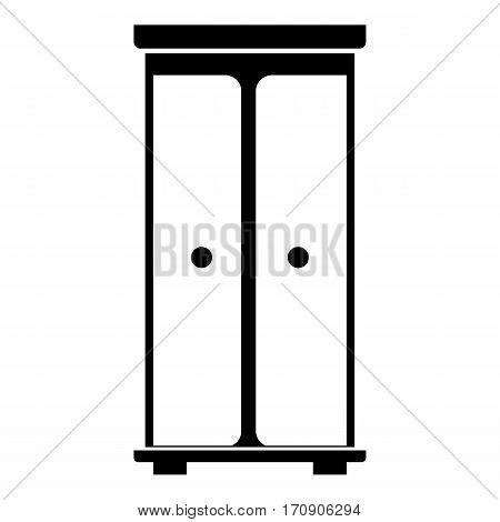 Children wardrobe icon. Simple illustration of children wardrobe vector icon for web