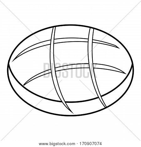 Fresh bread icon. Outline illustration of fresh bread vector icon for web