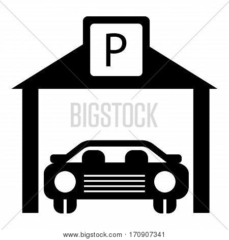 Car parking icon. Simple illustration of car parking vector icon for web
