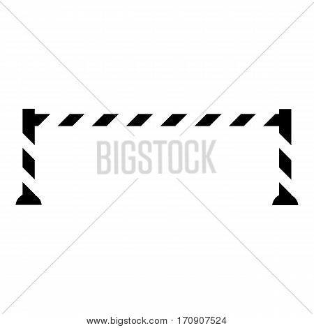 Warning barrier icon. Simple illustration of warning barrier vector icon for web