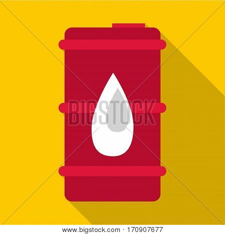 Oil barrel icon. Flat illustration of oil barrel vector icon for web