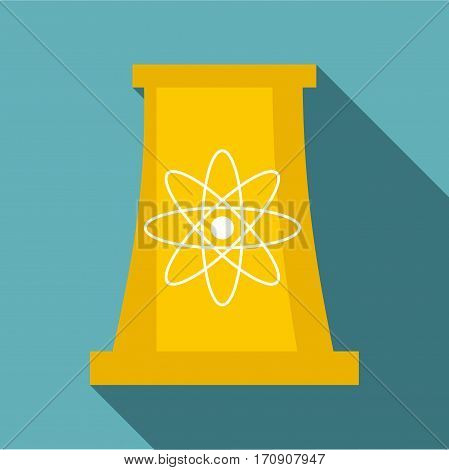 Cooling tower icon. Flat illustration of cooling tower vector icon for web
