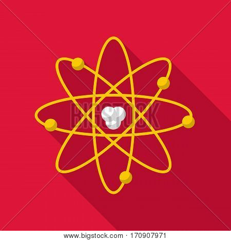 Atom icon. Flat illustration of atom vector icon for web