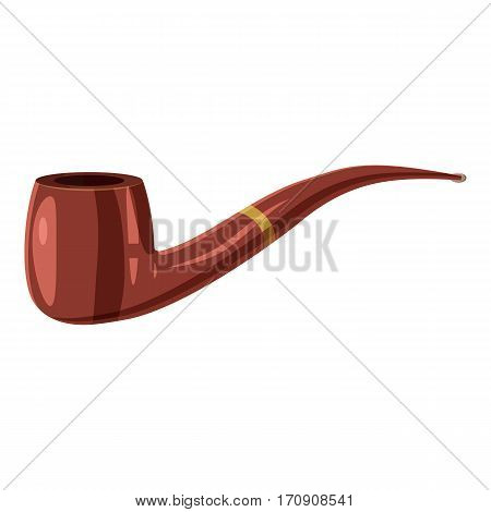 Smoking pipe icon. Cartoon illustration of smoking pipe vector icon for web