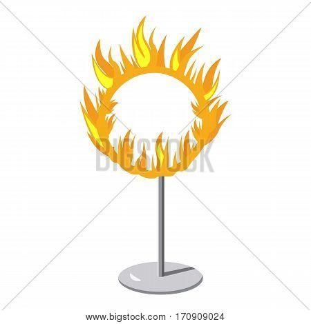 Burning hoop icon. Cartoon illustration of burning hoop vector icon for web