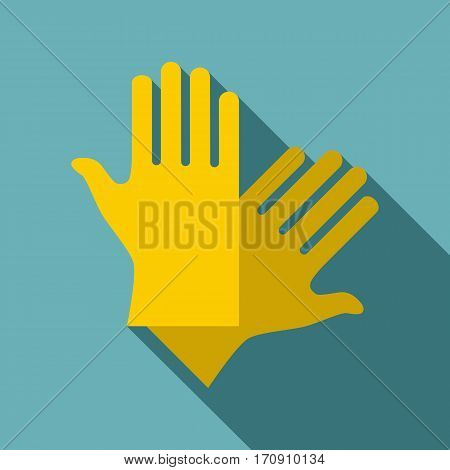 Latex gloves icon. Flat illustration of latex gloves vector icon for web